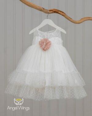 Βαπτιστικό φόρεμα Vicky 228 off white