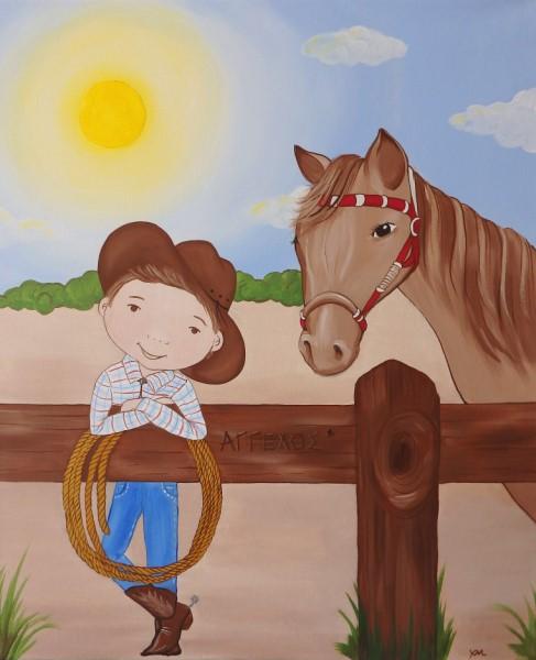 Παιδικός πίνακας Άγρια Δύση DPP140