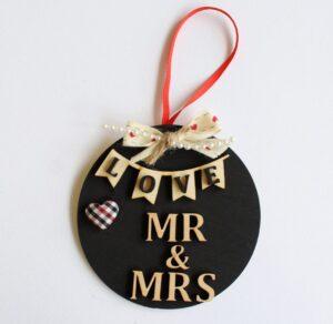 Χριστουγεννιάτικα στολίδια Mr&Mrs Love